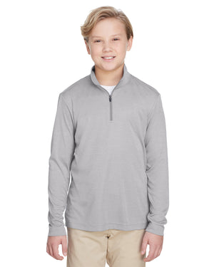 Team 365 Youth Zone Sonic Heather Performance Quarter-Zip - TT31HY