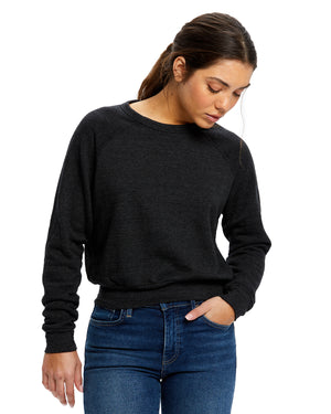 US Blanks Ladies' Sponge Fleece Crop Top - US838