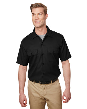 Dickies Men's Short Sleeve Slim Fit Flex Twill Work Shirt - WS673