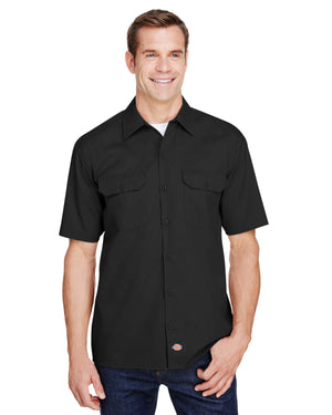 Dickies Men's FLEX Relaxed Fit Short-Sleeve Twill Work Shirt - WS675