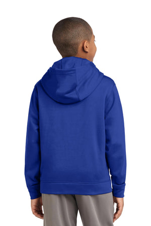Sport-Tek Youth Sport-Wick Fleece Hooded Pullover. YST244