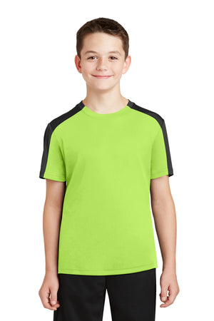Sport-Tek Youth PosiCharge Competitor Sleeve-Blocked Tee. YST354