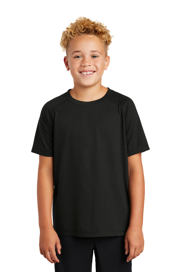 Sport-Tek  Youth PosiCharge  Tri-Blend Wicking Raglan Tee. YST400