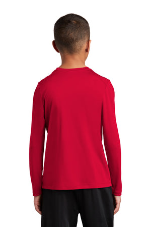 Sport-Tek  Youth Posi-UV Pro Long Sleeve Tee. YST420LS