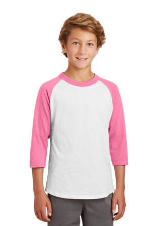 Sport-Tek Youth Colorblock Raglan Jersey.  YT200
