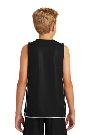Sport-Tek Youth PosiCharge Mesh Reversible Sleeveless Tee. YT555
