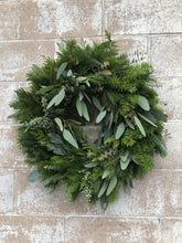 Load image into Gallery viewer, Fresh Winter Green Wreath