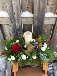 Small Christmas Table Centrepiece