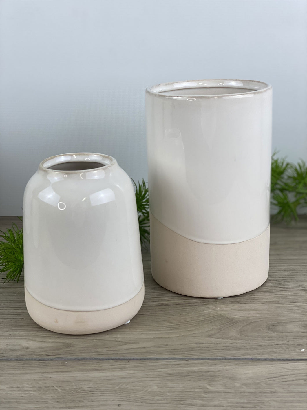 Glazed White Vase