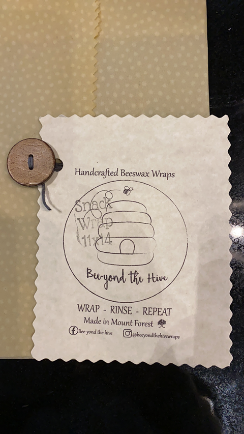 Beeyond the Hive Snack-Size Wax Food Wrap