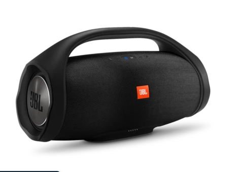 COMBO JBL BOOMBOX BLUETOOTH SPEAKER (BLACK) WITH JBL E25BT WIRELESS IN-EAR HEADPHONES WITH MIC