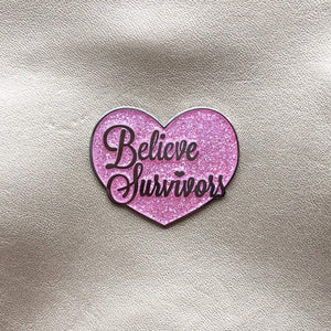 Believe Survivors Pin: Sparkle Pink