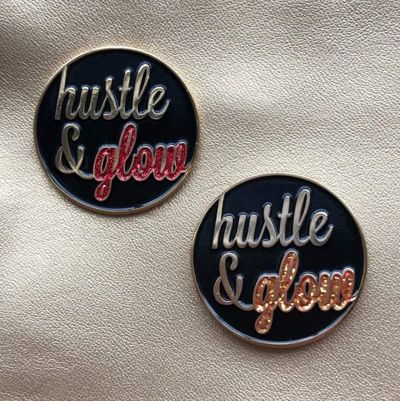 Hustle & Glow Pin: Orange