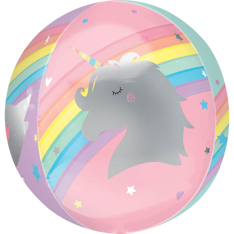 Inflated Magical Unicorn Orbz Balloon