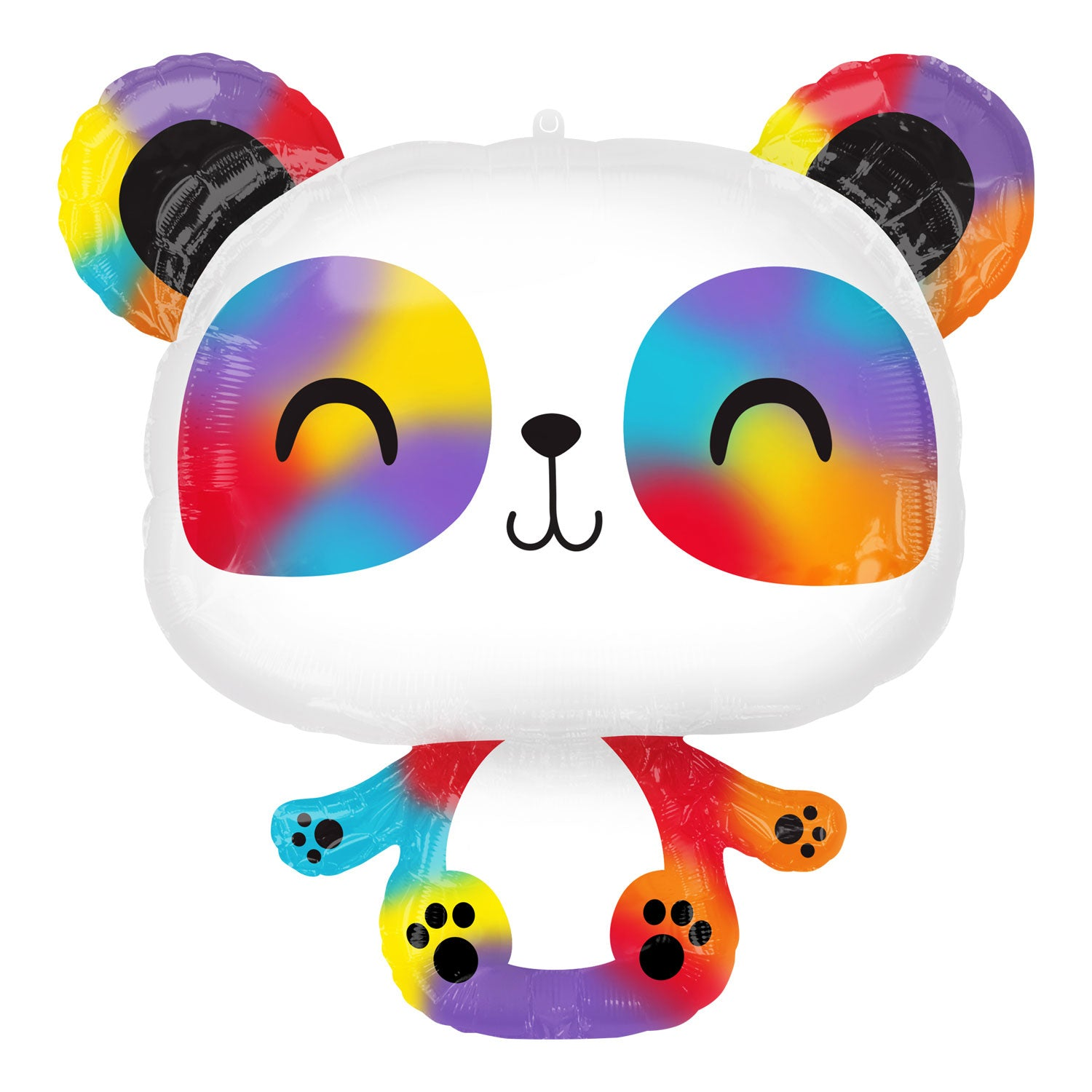 Inflated Rainbow Panda Foil Balloon - House Of Party