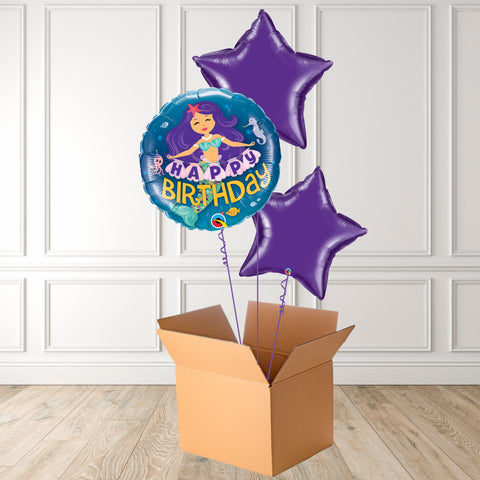 Happy Birthday Mermaid Foil Bouquet