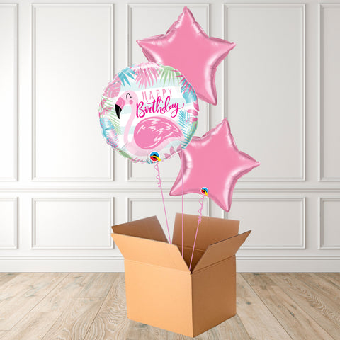 Birthday Pink Flamingo Foil Bouquet