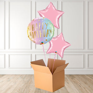 Birthday Ombre & Pastel Stars Foil Bouquet