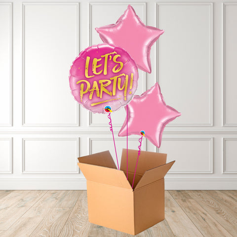 Let's Party Pink Foil Bouquet