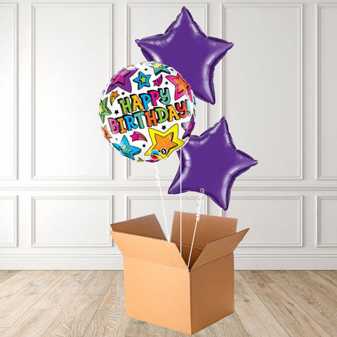 Birthday Multi Stars Foil Bouquet