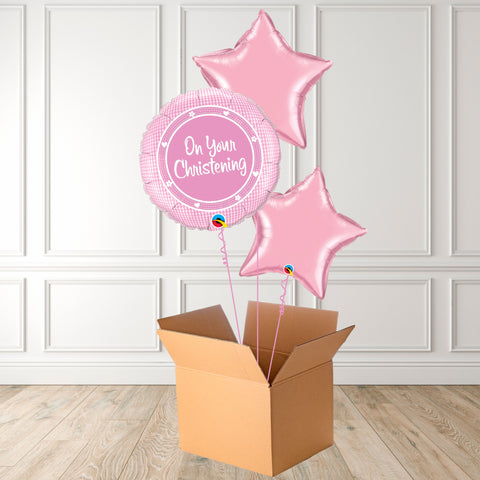 On Your Christening Pink Foil Bouquet