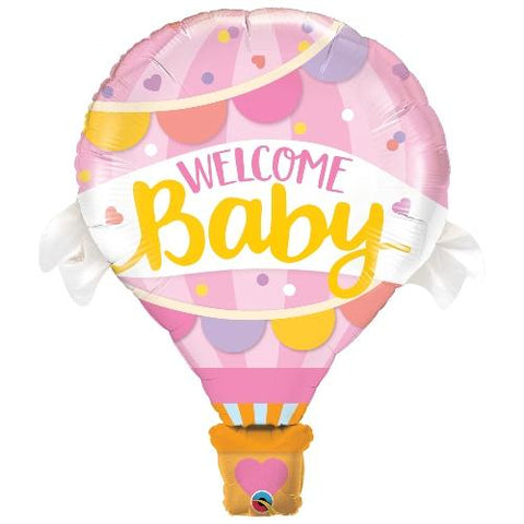 Inflated Baby Pink Hot Air Balloon - House Of Party