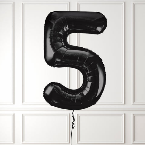 "Inflated 34"" Black Number 5"