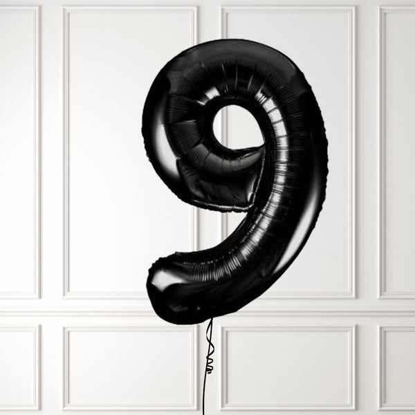 "Inflated 34"" Black Number 9"