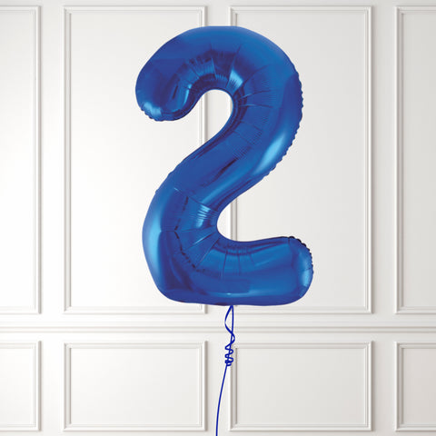 "Inflated 34"" Blue Number 2"
