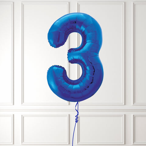 "Inflated 34"" Blue Number 3"