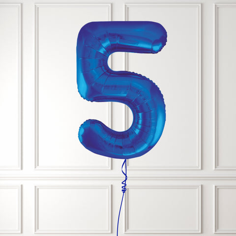 "Inflated 34"" Blue Number 5"