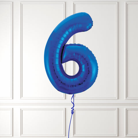 "Inflated 34"" Blue Number 6"