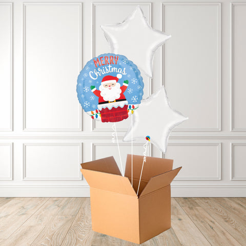 Inflated Merry Christmas Santa Foil Bouquet
