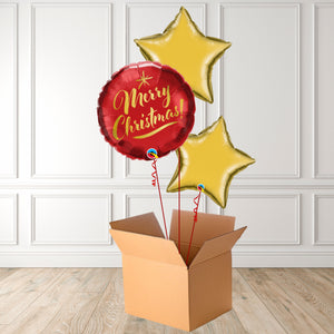 Inflated Merry Christmas Script Foil Bouquet