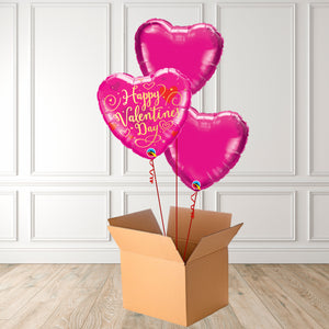Pink Valentines Day Foil Bouquet