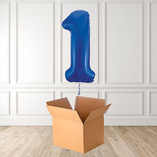 "Inflated 34"" Blue Number 1"