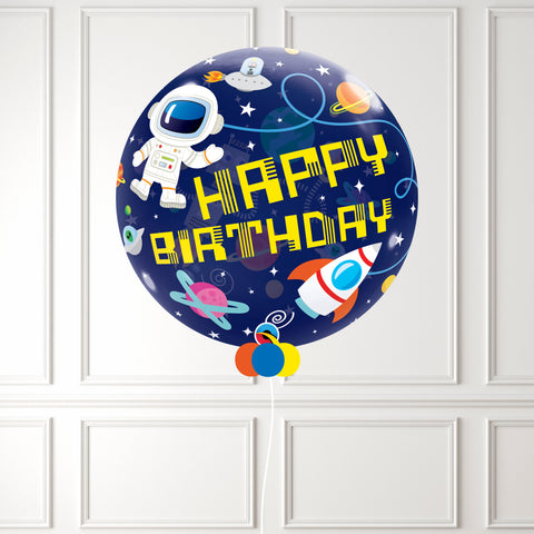 Inflated Birthday Outer Space Bubble