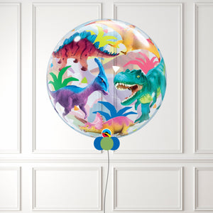Inflated Colourful Dinosaurs Bubble