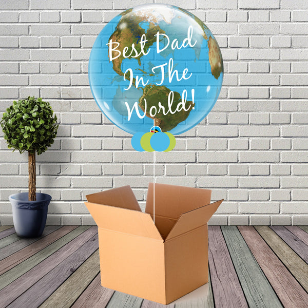 Inflated Fathers Day Globe Bubble - House Of Party