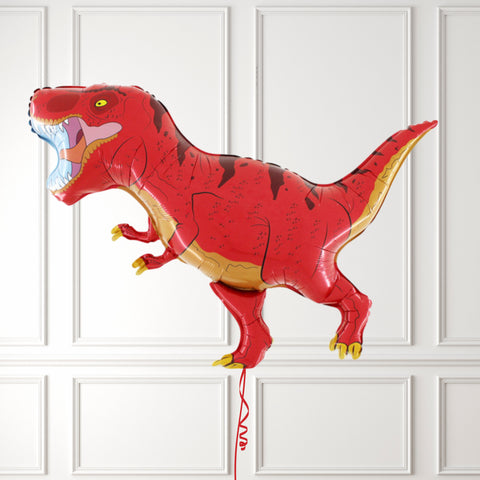 Inflated Red T-Rex Dinosaur