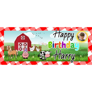 Personalised Farm Animals Banner - House Of Party