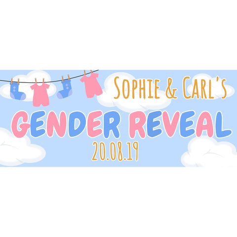 Personalised Gender Reveal Banner - House Of Party