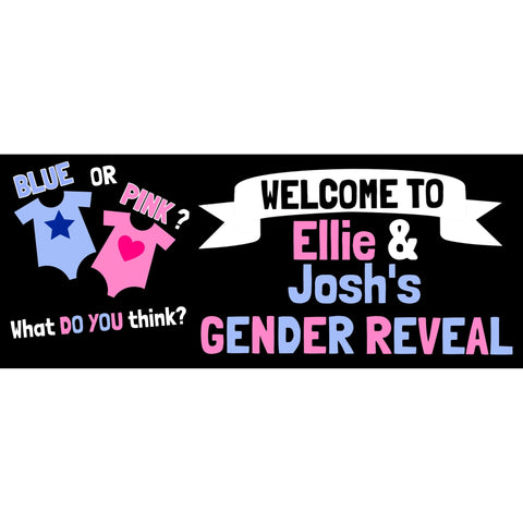 Personalised Gender Reveal Baby Grow Banner - House Of Party