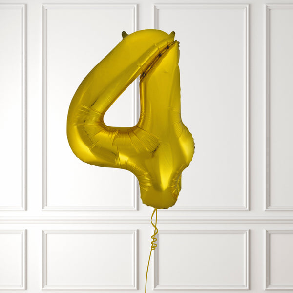 "Inflated 34"" Gold Number 4"