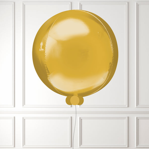 Inflated Gold Mini Balloon Bubble