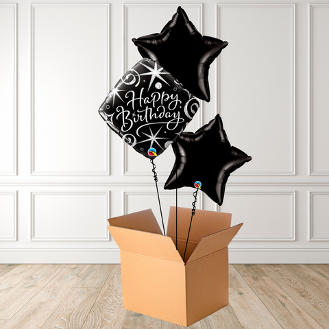 Birthday Elegant Sparkles & Swirls Foil Bouquet