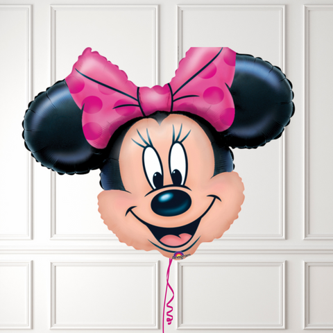 Inflated Minnie Mouse Head Balloon