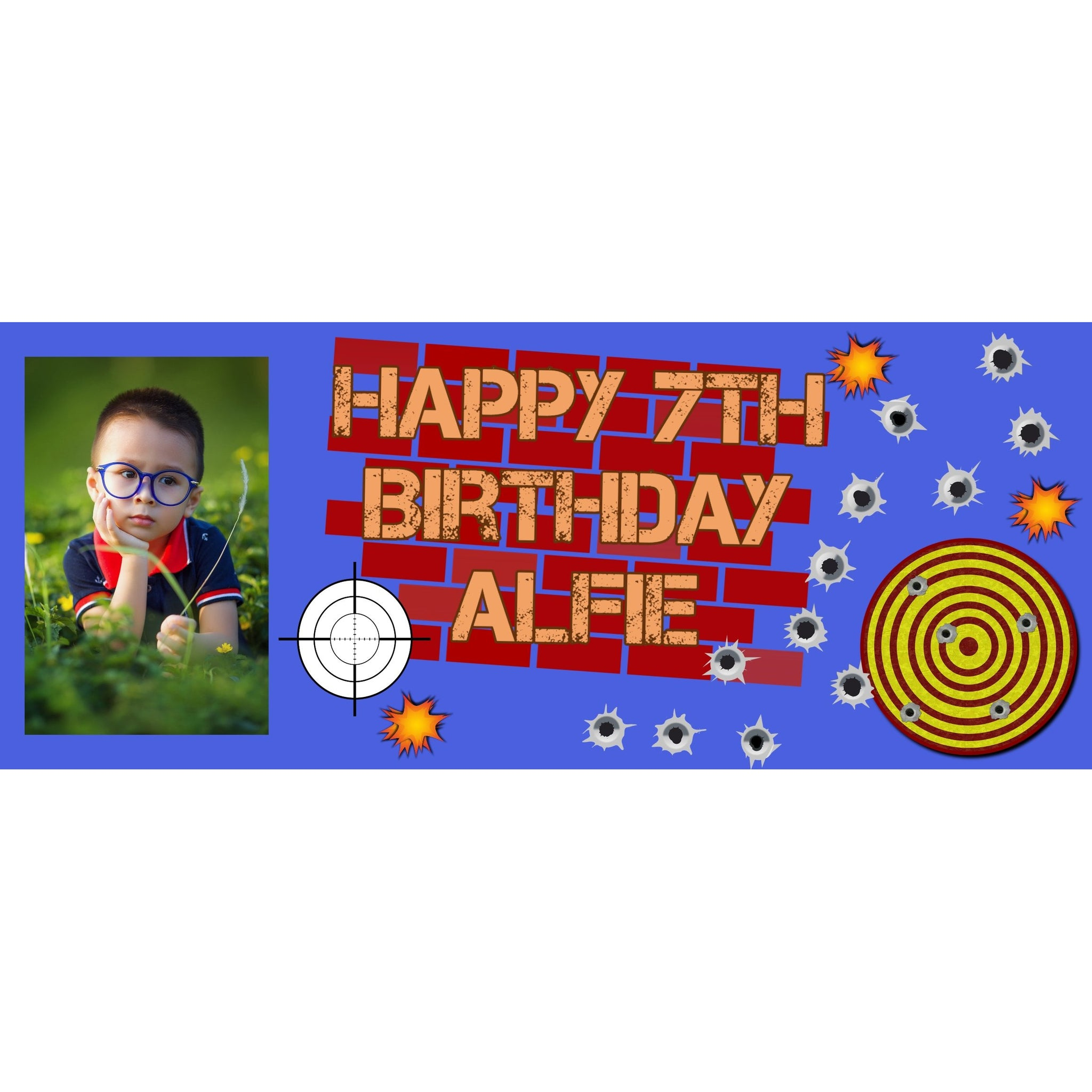 Personalised Nerf Gun Banner - House Of Party