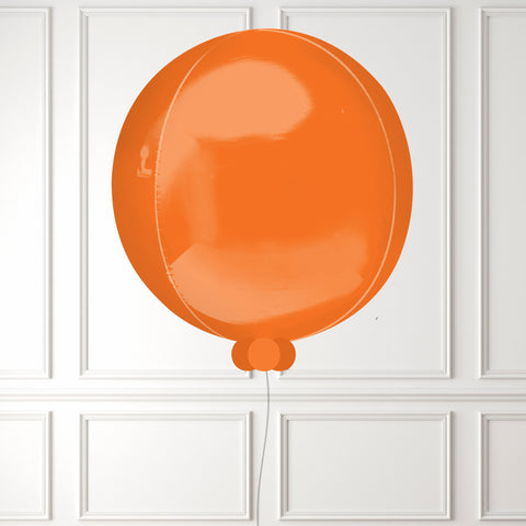 Inflated Orange Mini Balloon Bubble