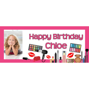 Personalised Make Up Pamper Banner - House Of Party